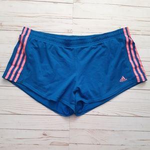 ADIDAS Athletic Mesh Blue and Hot Pink Shorts